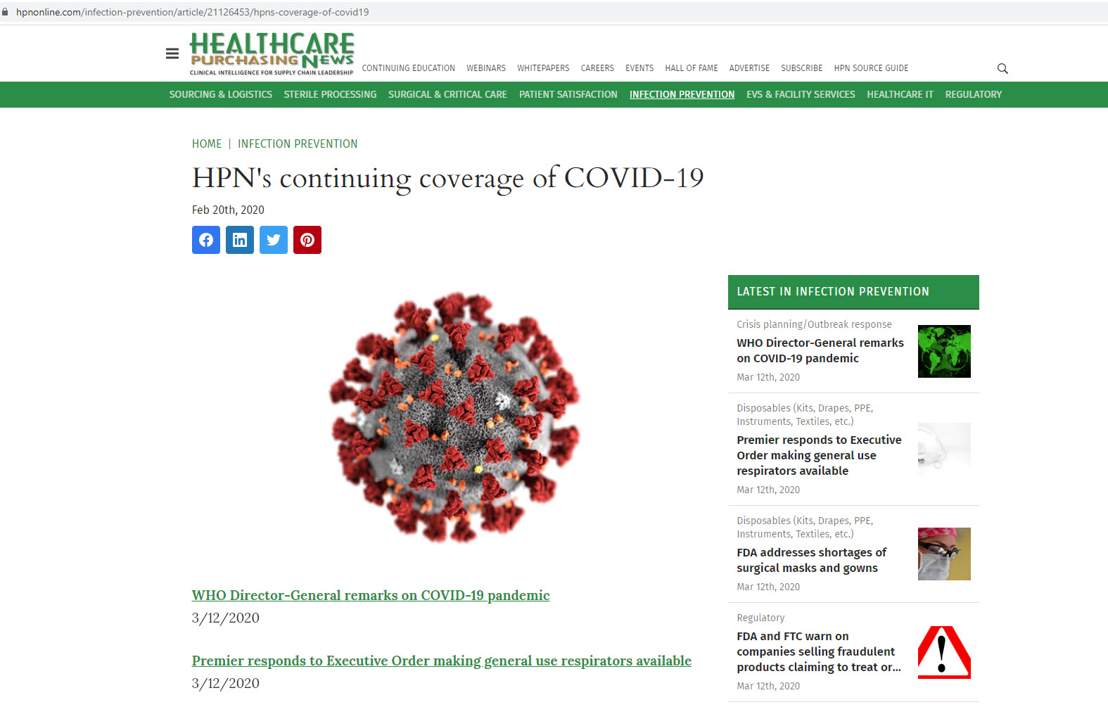 HPN's Continuing Coverage of COVID-19